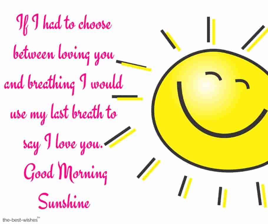 good morning sunshine text for him image