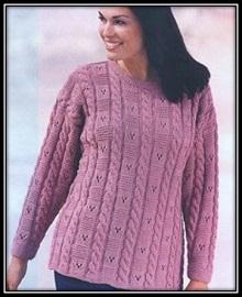vyazanie dlya polnih pulover