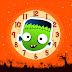 Halloween Kid Frankenstein Clock Screensaver