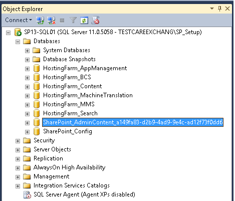 How to Rename SharePoint 2013 Central Admin Database to