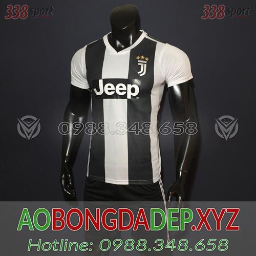 Áo Juventus 2019 Sân Nhà Màu Trắng Đen Đẹp