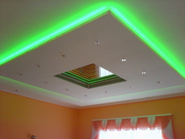3 gypsum false ceiling designs with LED ceiling lights