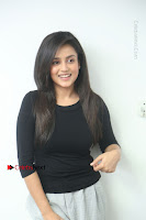 Telugu Actress Mishti Chakraborty Latest Pos in Black Top at Smile Pictures Production No 1 Movie Opening  0045.JPG