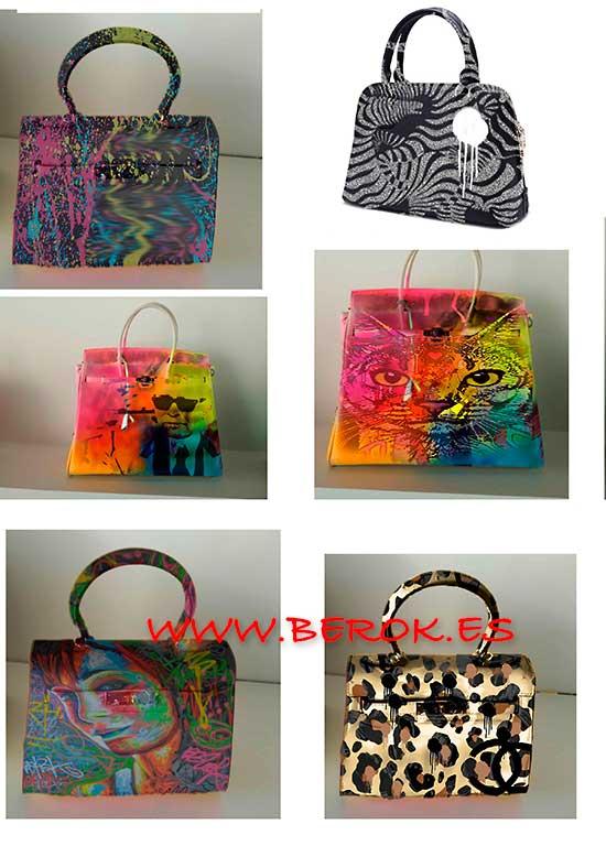 Diseños de graffiti en bolsos