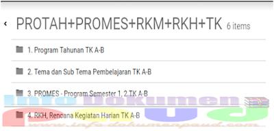 Administrasi PROTA, PROSEM, RKH TK A Semester 1 dan 2 2017/2018 Rar