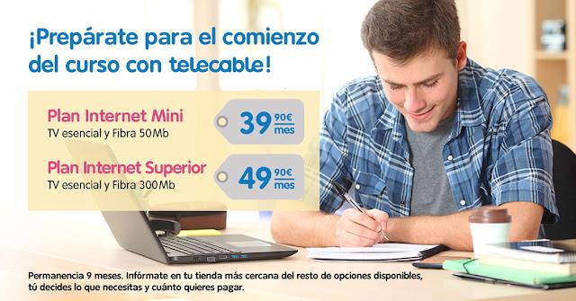 Telecable ofrece una oferta para estudiantes