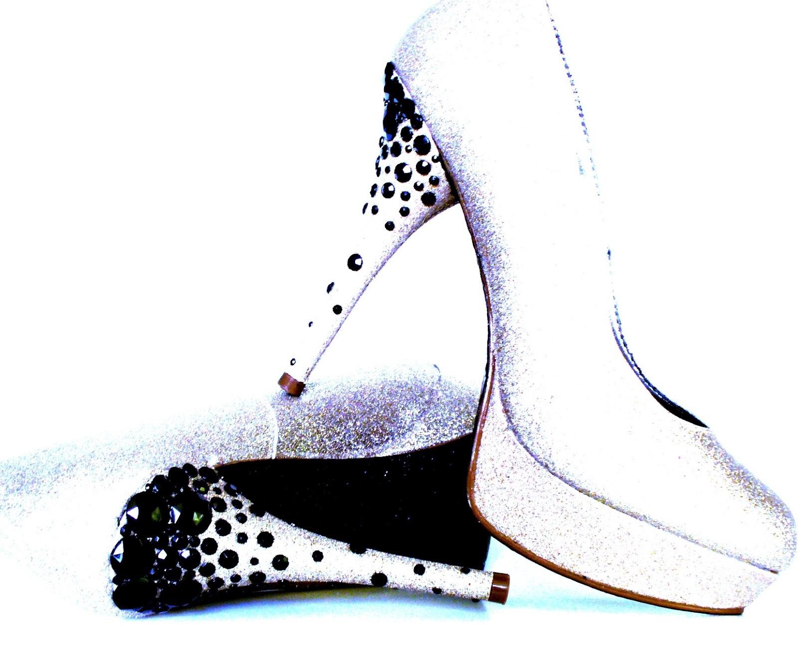 cc79bb2b1a37 Custom Order: Black and Gold Rhinestone Heels Sparkle Glitter Shoes