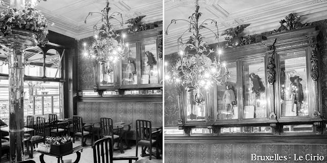 """""""Le Cirio"""" - L'une des plus anciennes tavernes bruxelloises - Classée au patrimoine des Monuments & Sites en 2011 - Première salle à front de rue - Bruxelles-Bruxellons"""