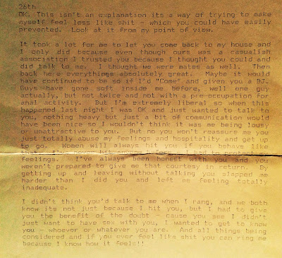 explanation letter