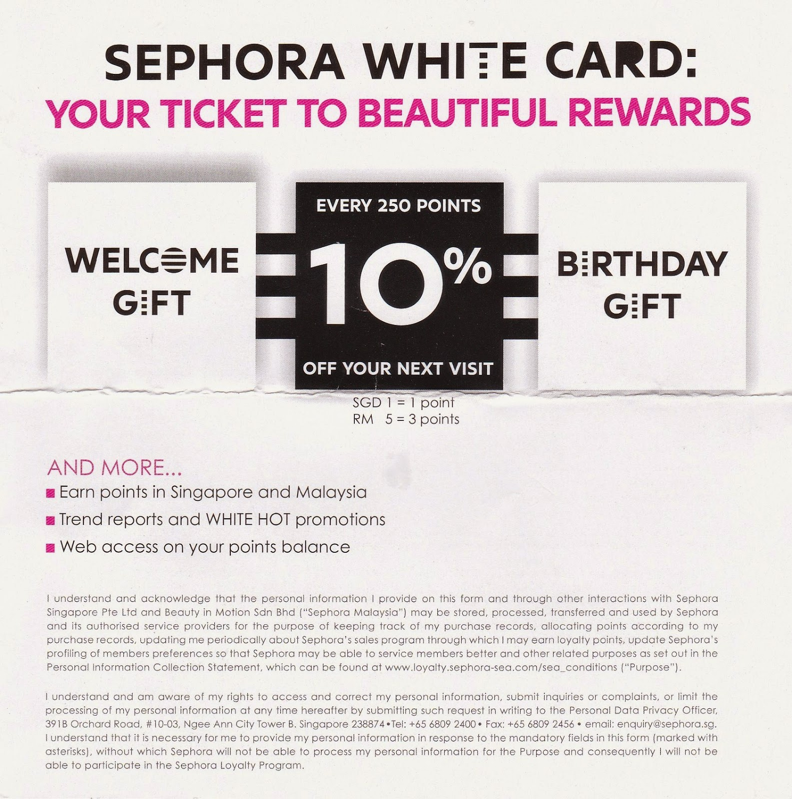 Sephora White Card Birthday Gift Me Programme And Gifts With Purchase Cosmetopia PrintableSEPHORA COLLECTION Is About Formulas That Really Deliver