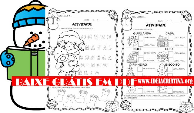 Atividades Linguagem Projeto Natal