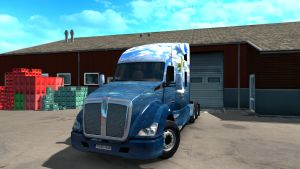 Island Landscape paint job for Kenworth T680