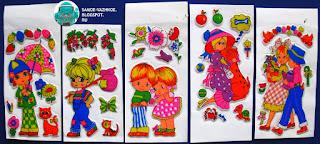 Мягкие наклейки 1990, 90е, девяностые. Объёмные наклейки 1990, 90е, девяностые. Наклейки 1990, 90е, девяностые дети, девочки, большие головы, шляпы, зонты.
