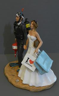 top cake tops statuine matrimonio pochette sacchetti compere orme magiche