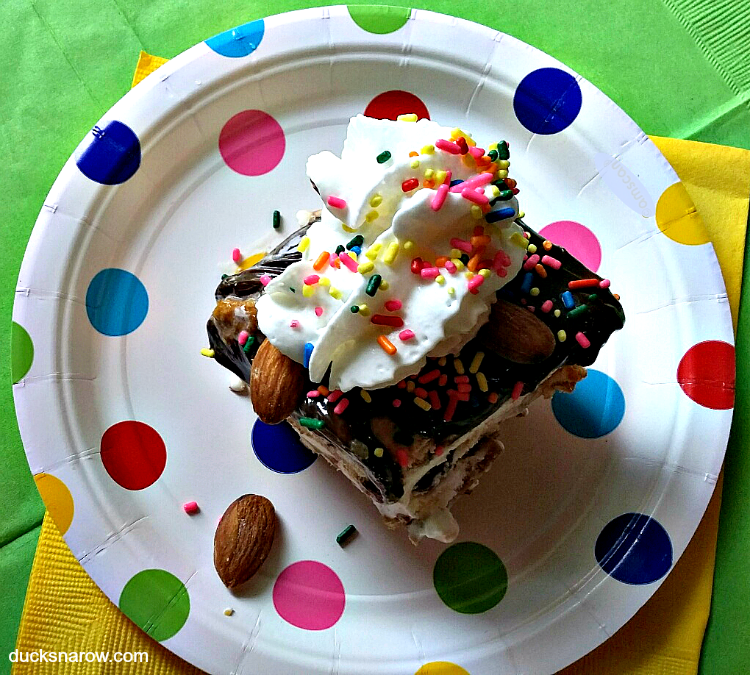 fudge sundae, ice cream party, kids, family fun