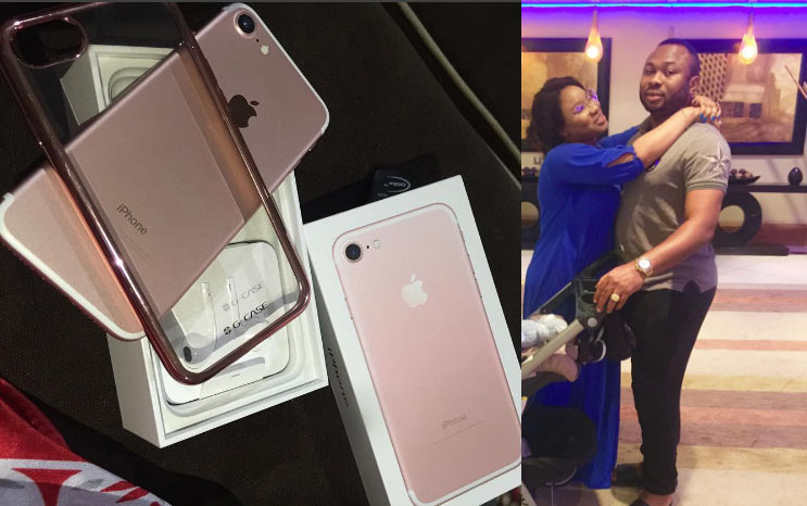 What recession? Tonto Dikeh's hubby gets her N350k Apple iPhone 7
