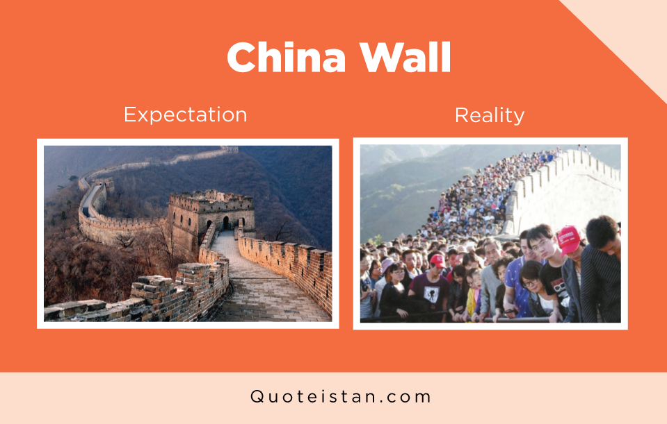 Expectation Vs Reality: China Wall