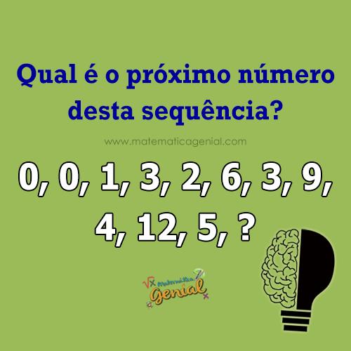 Desafio: Qual é o próximo número desta sequência?