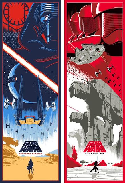 Star Wars: The Force Awakens & The Last Jedi Screen Prints by Eric Tan x Bottleneck Gallery