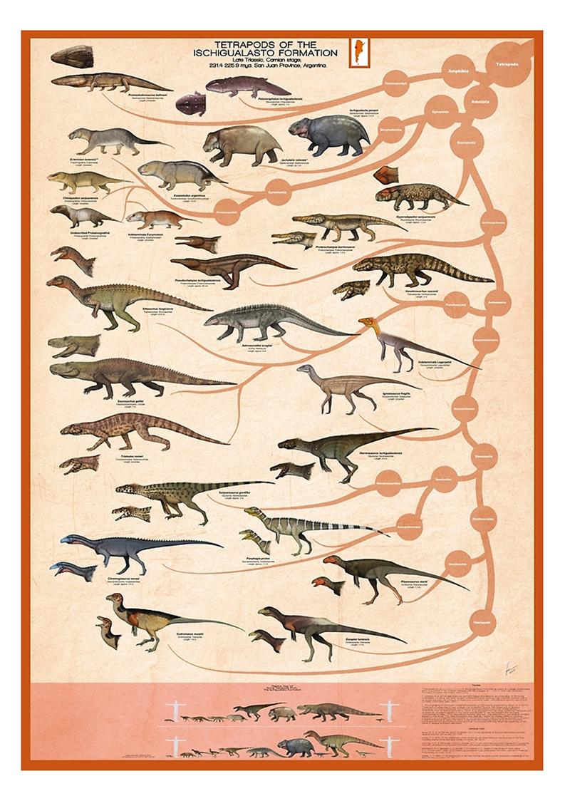 Gabriel Ugueto's Ischigualasto Formation Poster
