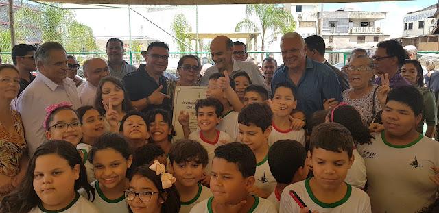 GDF entrega obras de revitalização de quadra poliesportiva e parquinho no Setor O, em Ceilândia