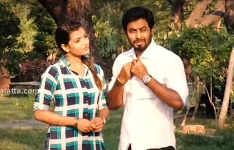 Aari and Ashna Zaveri at the shooting spot of Nagesh Thiraiyarangam