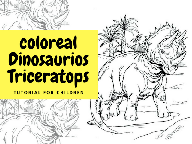 Colorear Dinosaurios Triceratops para colorear gratis - Disney para ...