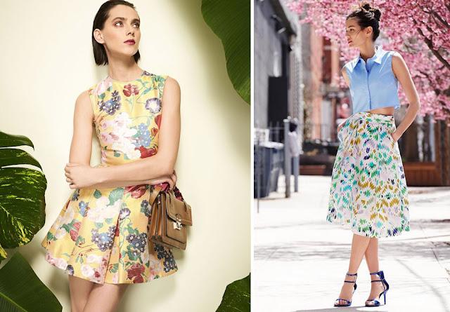 Платье и юбка с контрастным принтом