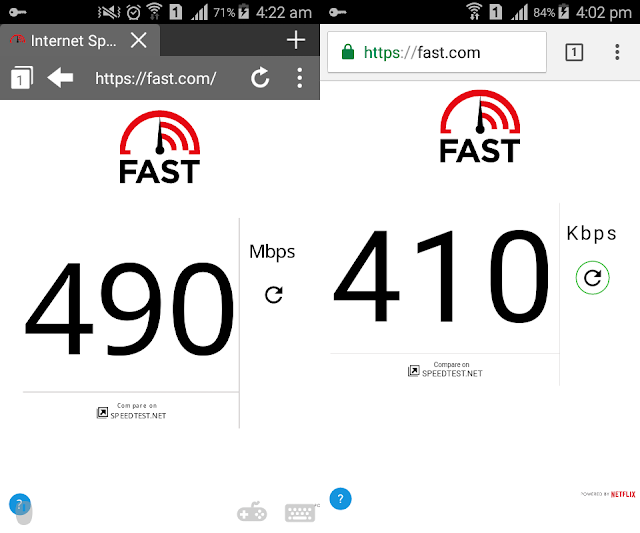 Puffin Browser Speed Test