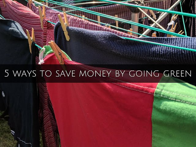 5 ways save money going green