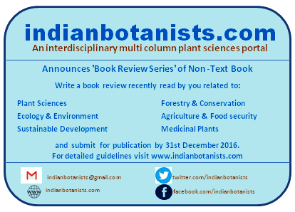 Indian Botanists: Indian Botanists announces 'Book Review