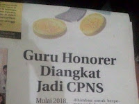 Guru Honorer Diangkat Jadi PNS, Mulai 2018 Khusus Yang Mengabdi Lama !!