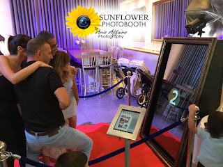 The Sunflower Photobooth by Aris Affairs Photography can add a sparkle to your Prescott party.