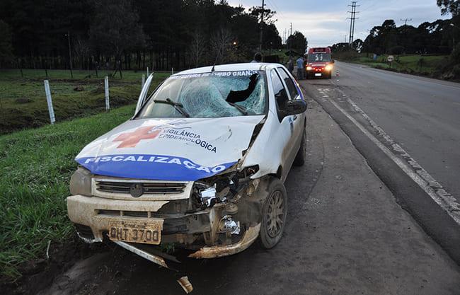Acidente com atropelamento envolve carro da prefeitura de Timbó Grande