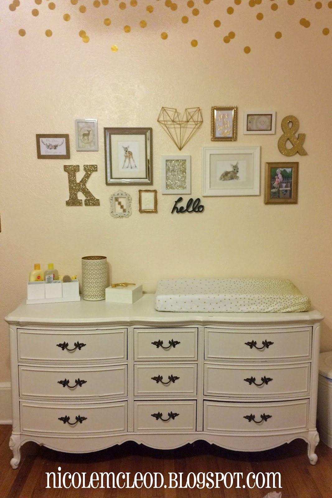 Blush gold nursery: blush and gold nursery. ... remember…blush ...