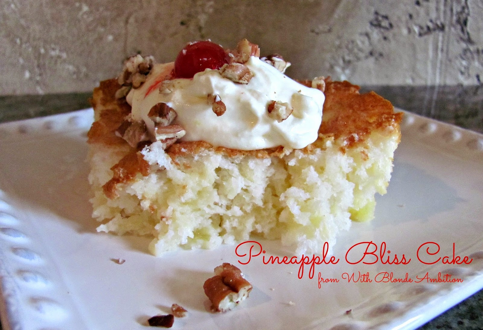 With Blonde Ambition 2 Ingredient Pineapple Bliss Cake