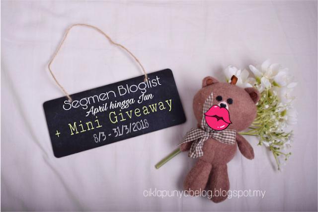 Segmen Bloglist April hingga Jun + Mini Giveaway