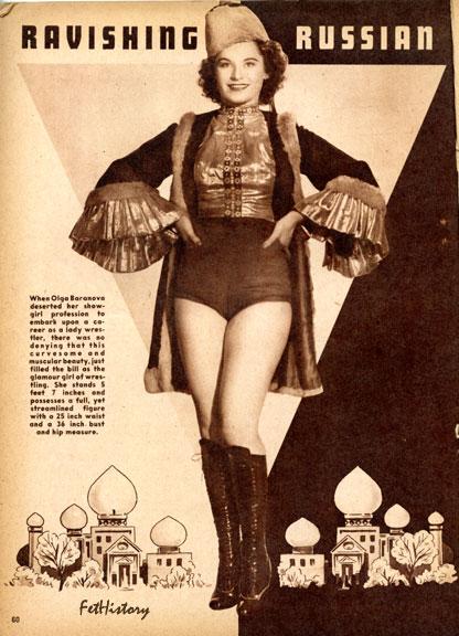 Robert Harrison magazines, Charles Guyette, Edythe Farrell, lady wrestler