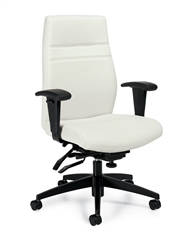 White Leather Executive Office Chair