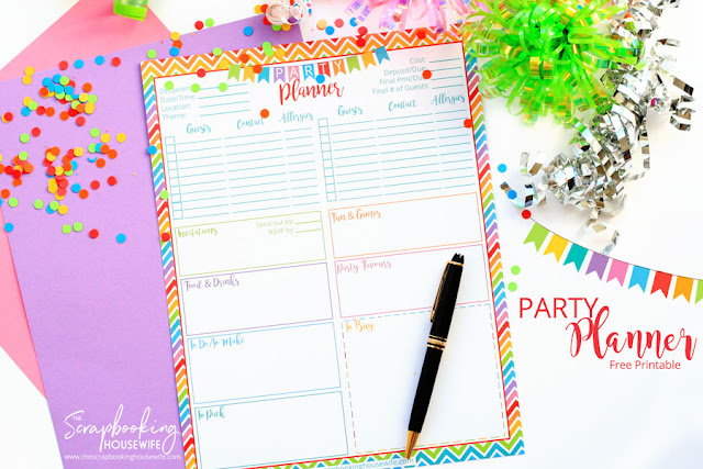 FREE BIRTHDAY PARTY PLANNING PRINTABLE CHECKLIST