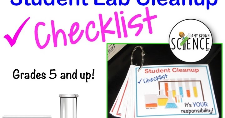Amy Brown Science: Student Lab Cleanup: How to Improve It!