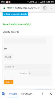 Setting MX record