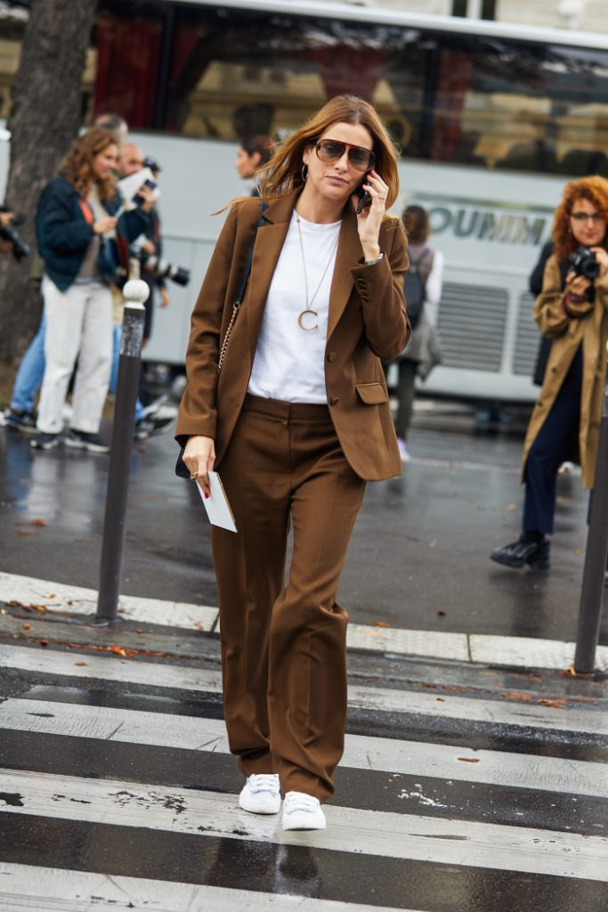 We're Obsessed With This Neutral Power Suiting Look