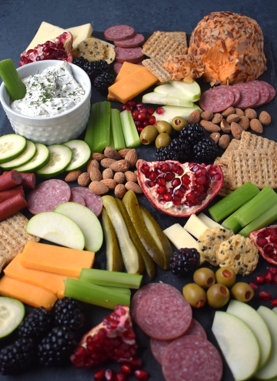 Loaded holiday appetizer platter