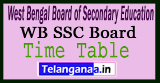 WB 10th Time Table 2018