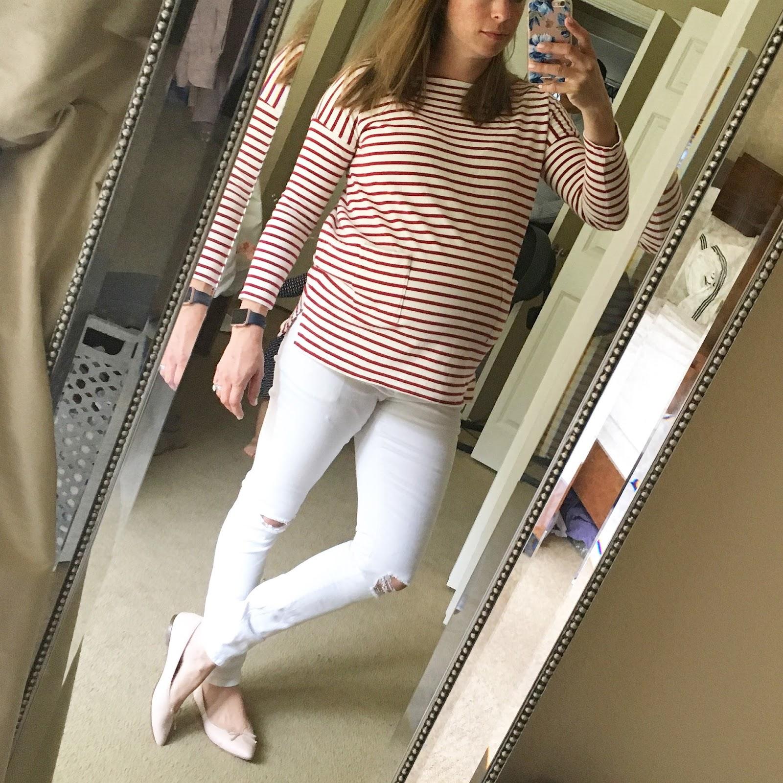 white maternity skinny jeans