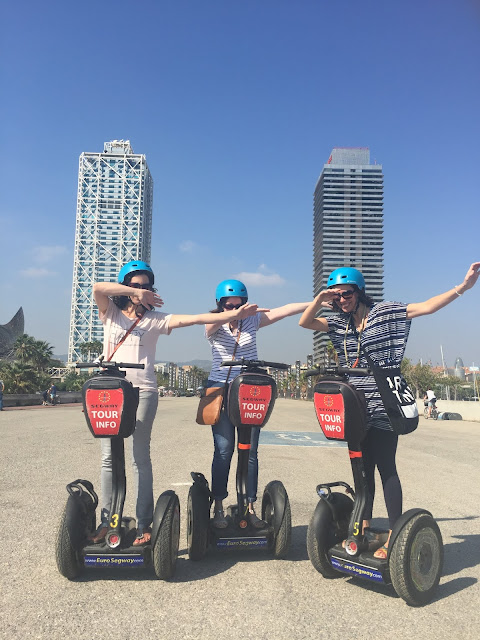 Steph and friends Dab on Segway