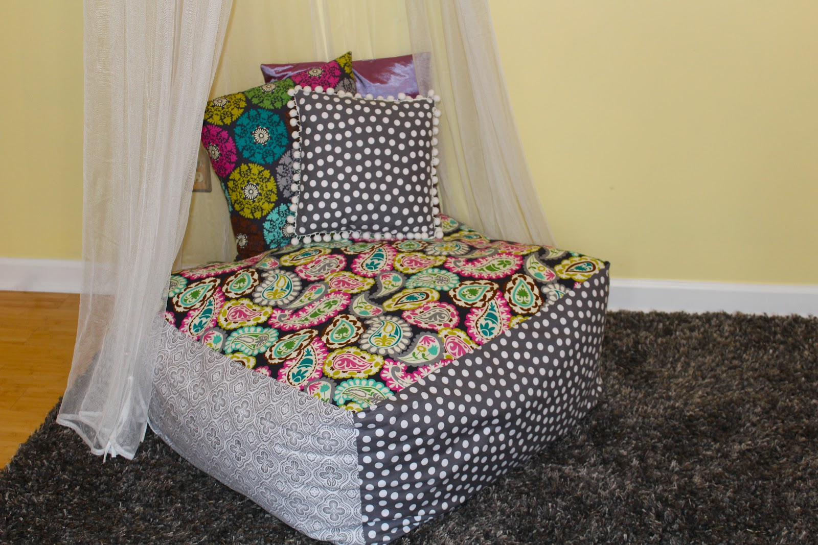 diy bean bag chair Antsi Pants: Square Bean Bag Chair diy bean bag chair