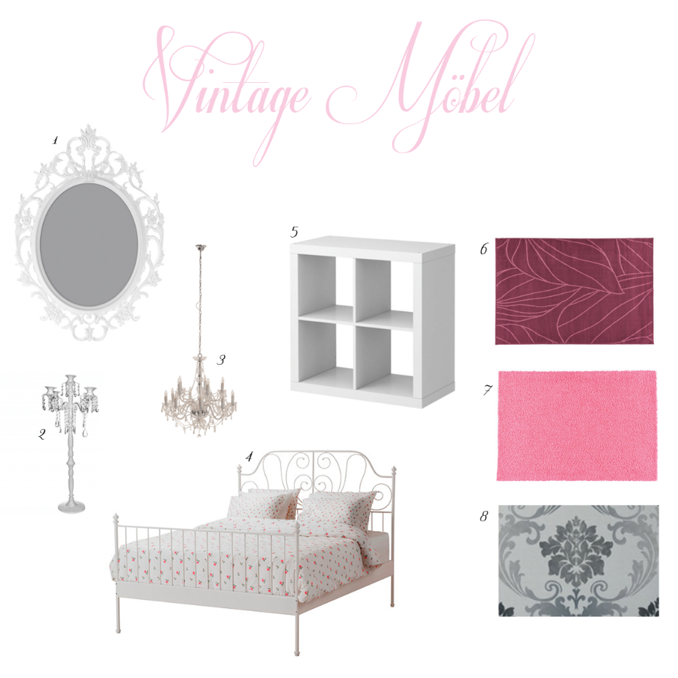 aquamarie get the look vintage m bel. Black Bedroom Furniture Sets. Home Design Ideas