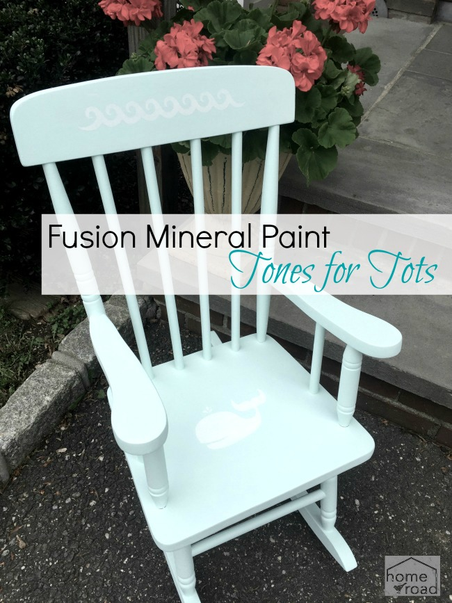children's rocking chair with stencils and overlay